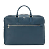 Double briefcase with zip, Evolution ##Ocean Blue