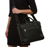 Single briefcase with zip, Evolution ##Black