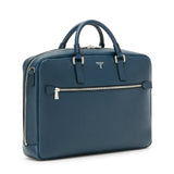 Single briefcase with zip, Evolution ##Ocean Blue