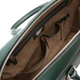 Single briefcase with zip, Evolution ##Forest Green