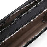 Double zip Man clutch, Evolution ##Black