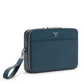 Double zip Man clutch, Evolution ##Ocean Blue