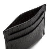 4 Credit Card Case, calf leather, Evoluzione Collection ##Black