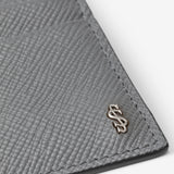 4 Credit Card Case, Calf leather, Evoluzione Collection ##Asphalte Grey