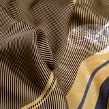 Grace Foulard, Silk ##Yellow/Grey