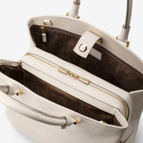 Handbag in Rugiada Leather ##Cream