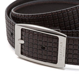 Double face leather belt, Stepan/Evolution ##Choco/Dark Brown