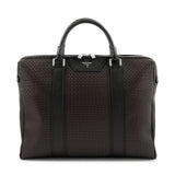 Single briefcase with zip, Stepan/Evolution ##Choco/Black