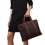 Single briefcase with zip, Stepan/Evolution ##Choco/Claret