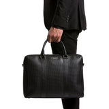 Double briefcase with zip, Stepan/Evolution ##Black