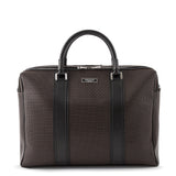 Double briefcase with zip, Stepan/Evolution ##Choco/Black