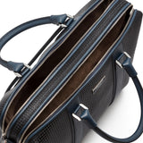 Double briefcase with zip, Stepan/Evolution ##Black/Lapis Lazuli