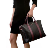 Double briefcase with zip, Stepan/Evolution ##Black/Ruby Red