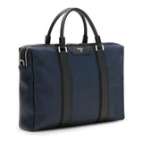 Double briefcase with zip, Stepan/Evolution ##Ocean Blue/Black