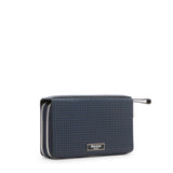 Travel Pochette with Double Zip, Stepan  ##Ocean Blue/Black