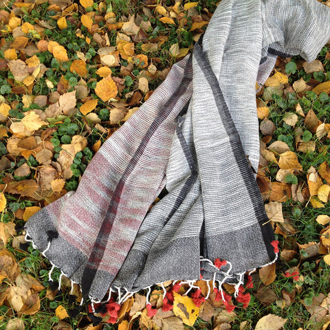 *NEW* Organic Cotton Scarf with Natural Dye