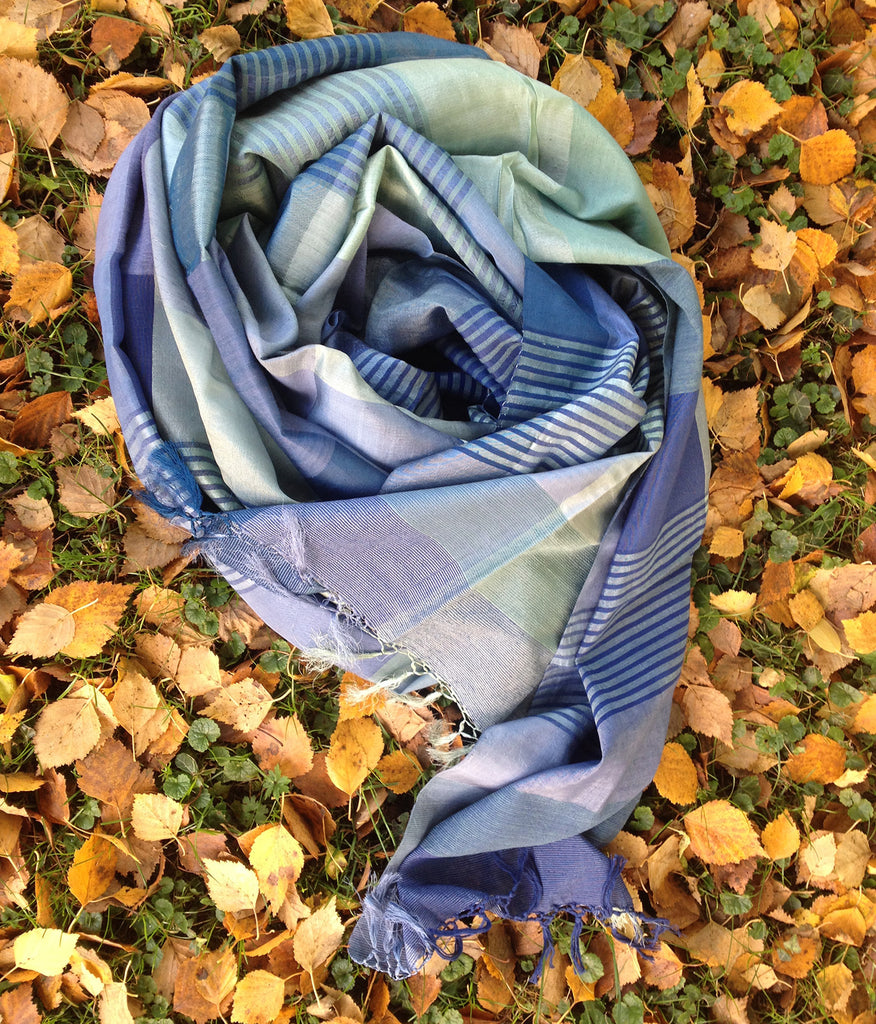 Mulberry Silk & Cotton Shawl