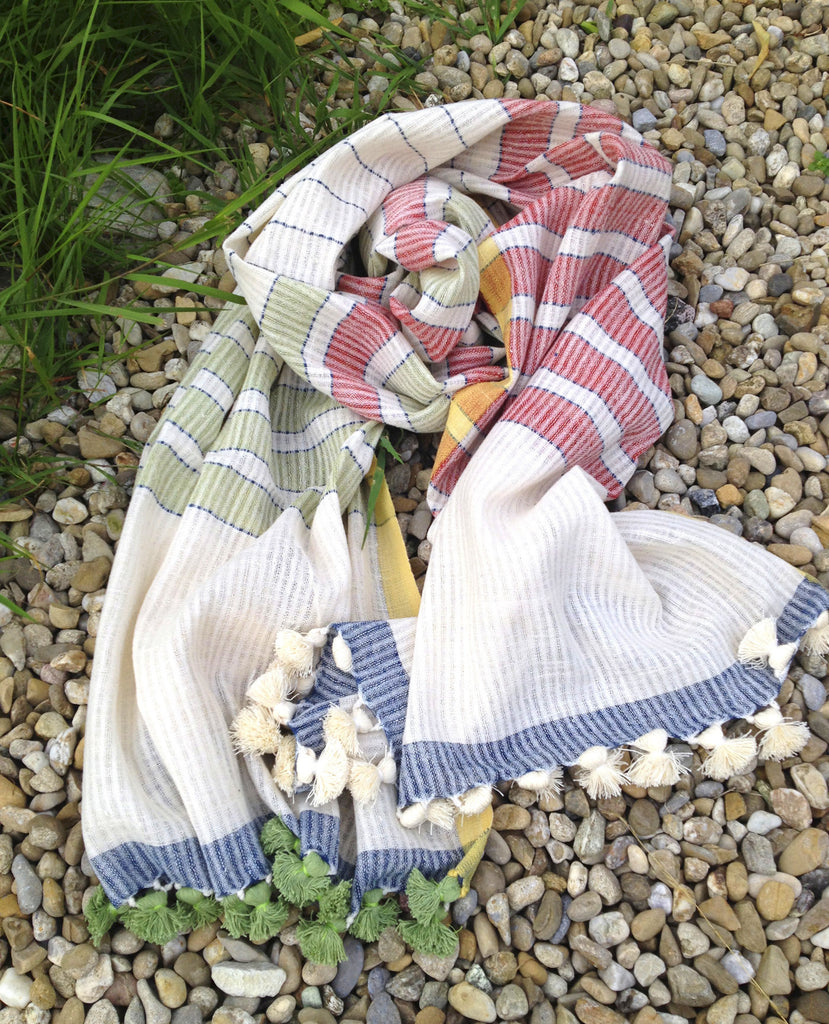 Organic Cotton Scarf with Natural Dye