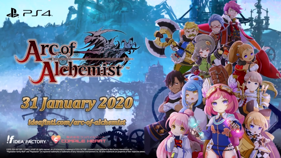 Arc of Alchemist Launches on PS4 in January 2020