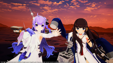 Azur Lane: Crosswave - Unicorn & Long Island - Photo Mode