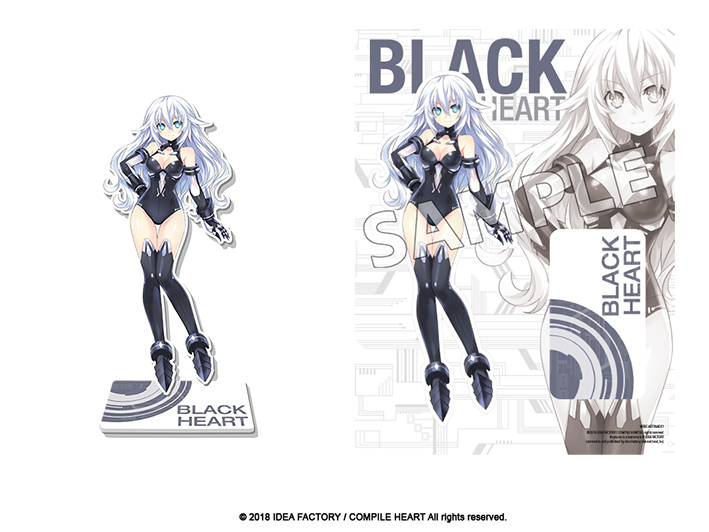 Goddess Acrylic Standee - Black Heart