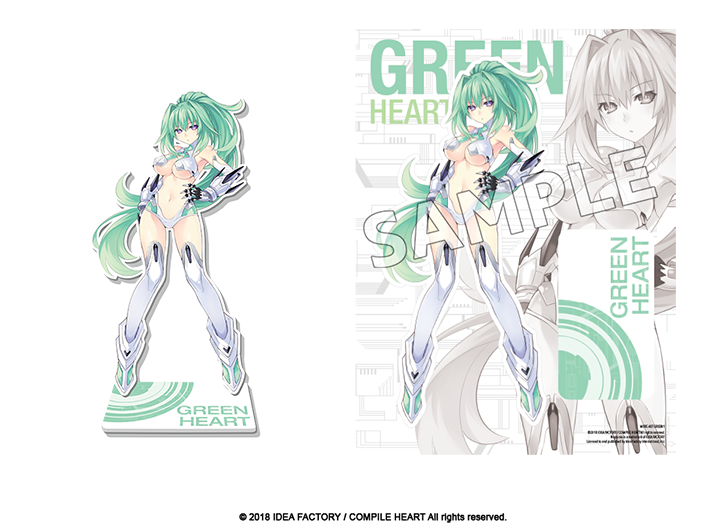 Goddess Acrylic Standee - Green Heart