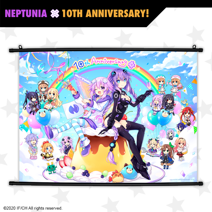 "32"" x 26"" Wall Scroll - Neptunia 10th Anniversary"