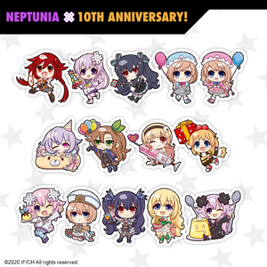 Chibi Neptunia Pins - Full Set - Neptunia 10th Anniversary