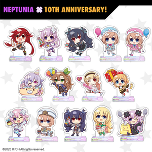 Chibi Neptunia Standees - Full Set - Neptunia 10th Anniversary