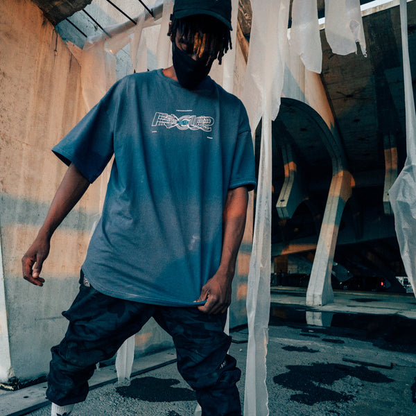 AW18 Oversize FOCUS T-Shirt (Blue)