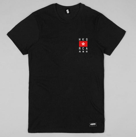 *Hong Kong RCA Long Fit Tee (Black)