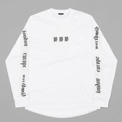 (SS18) World Tour Long Sleeve T-Shirt (White)
