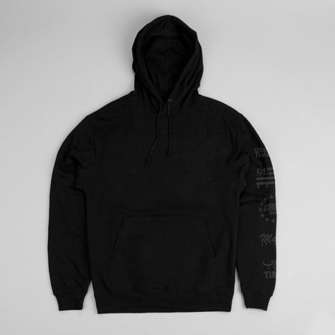 black parkour hoody travel