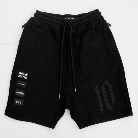 Drop Crotch Sweat Shorts (Black)