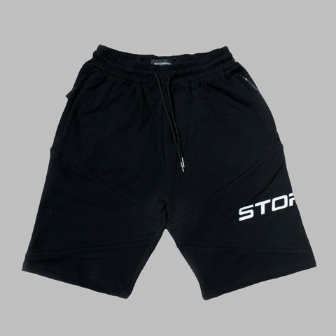.Storror Sport Zip Shorts (Black)