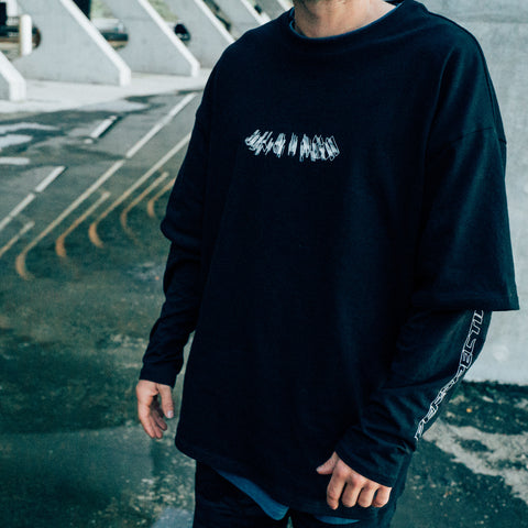 AW18 Double Layer VISION Long Sleeve (Black)