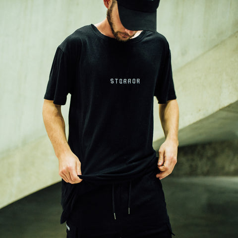 Classic Oversize Storror Stretch Training Tee (Black)