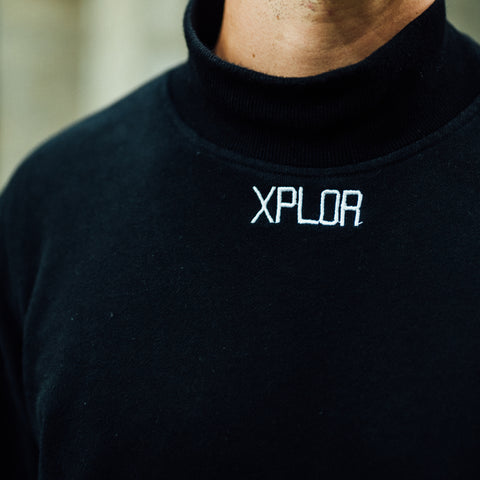 High Neck XPLOR Sweatshirt (Black)