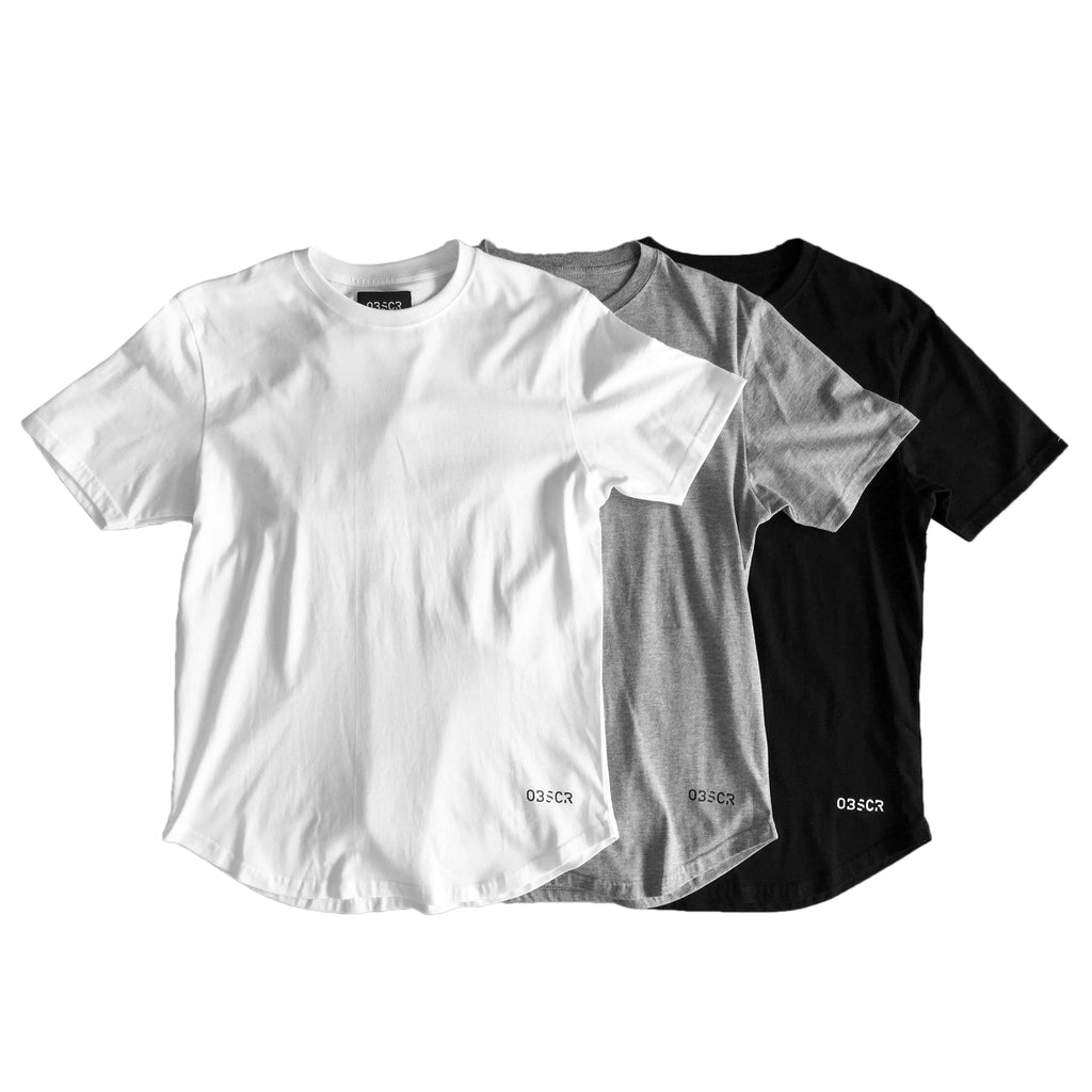 Basic Crewneck Tee (3 Pack)