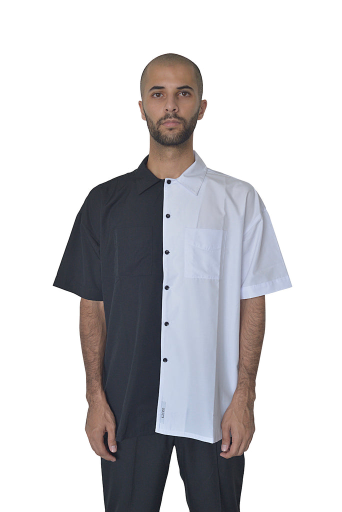 Two Tone 'Black/White' Revere Shirt