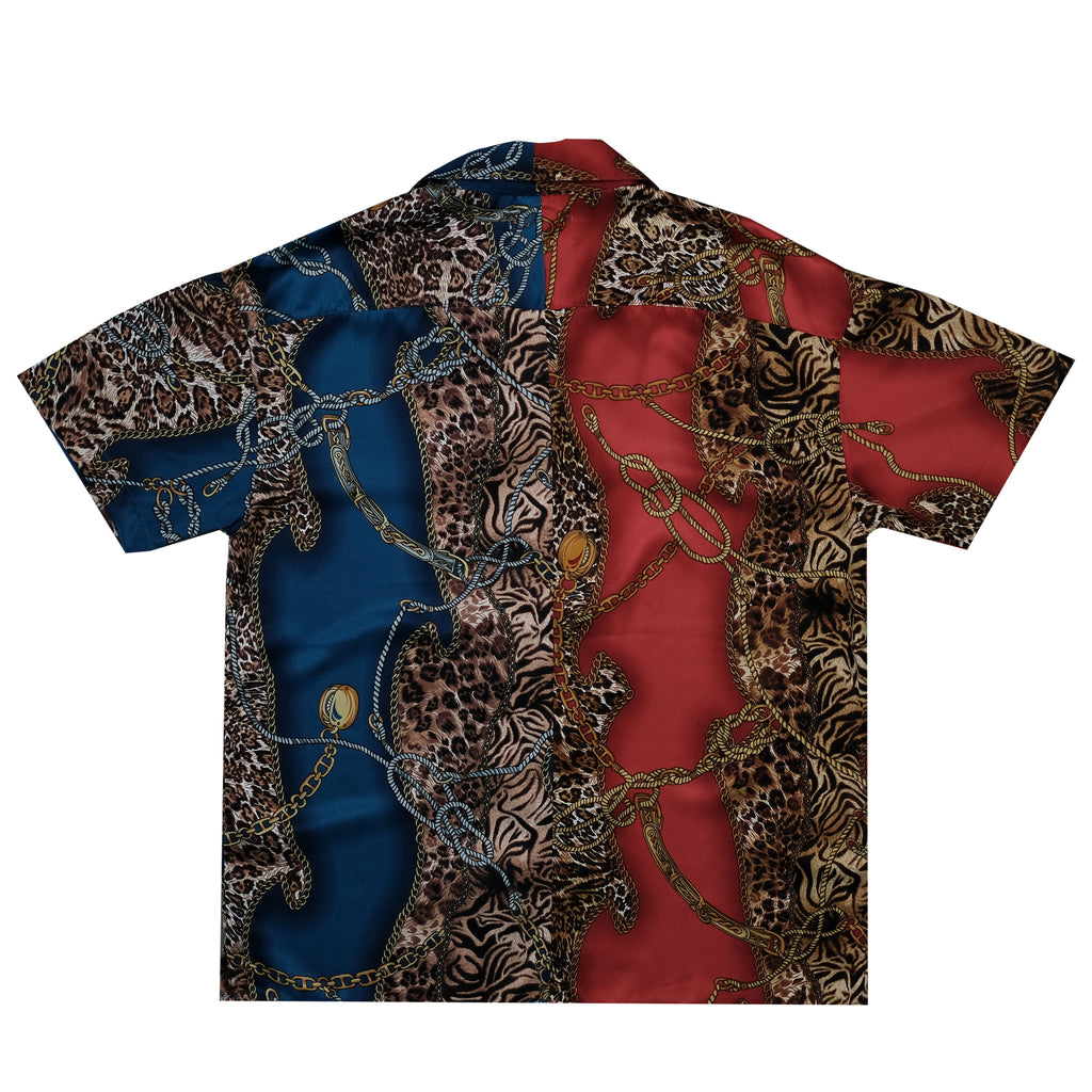 Vestige Revere Collar Shirt (Red/Blue)
