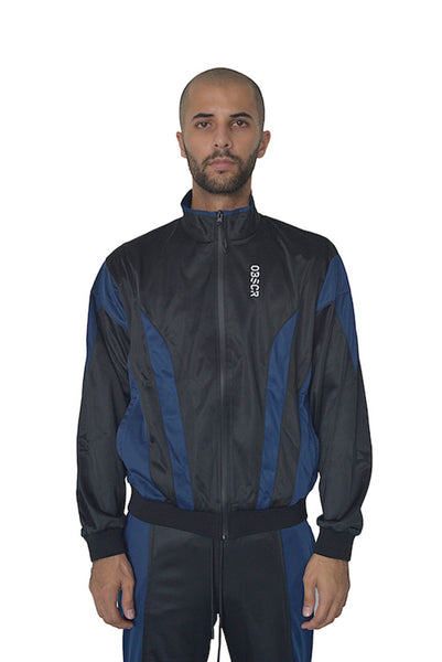 'Midnight' Contrast Track Jacket