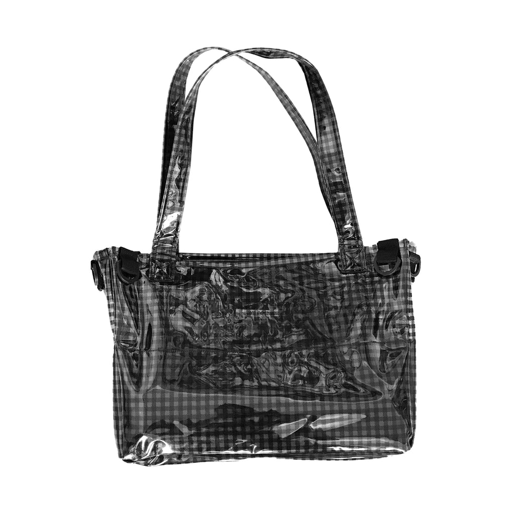 Half Screen Checkered Tote Bag