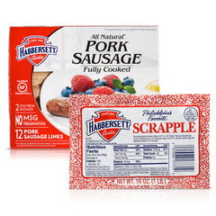Scrapple and Pork Sausage Links Package