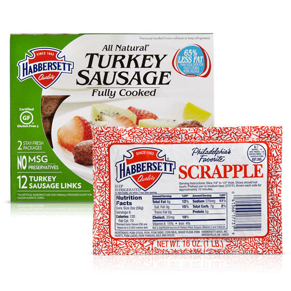 Scrapple and Turkey Sausage Links Package