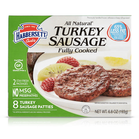 ALL NATURAL TURKEY SAUSAGE PATTIES