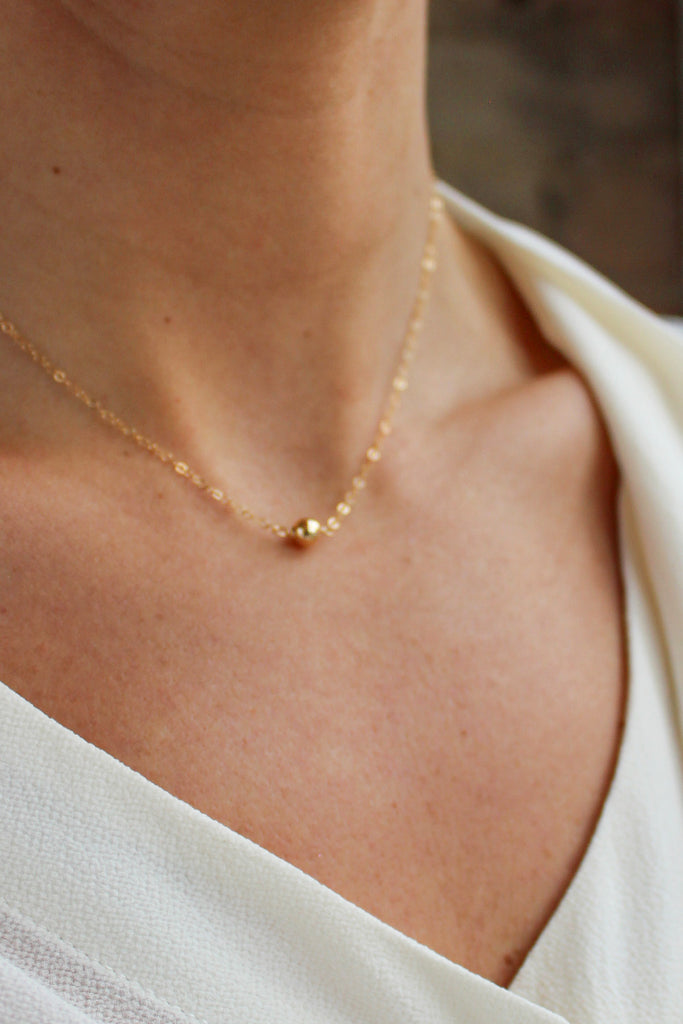 Gold Dust Solitaire Necklace