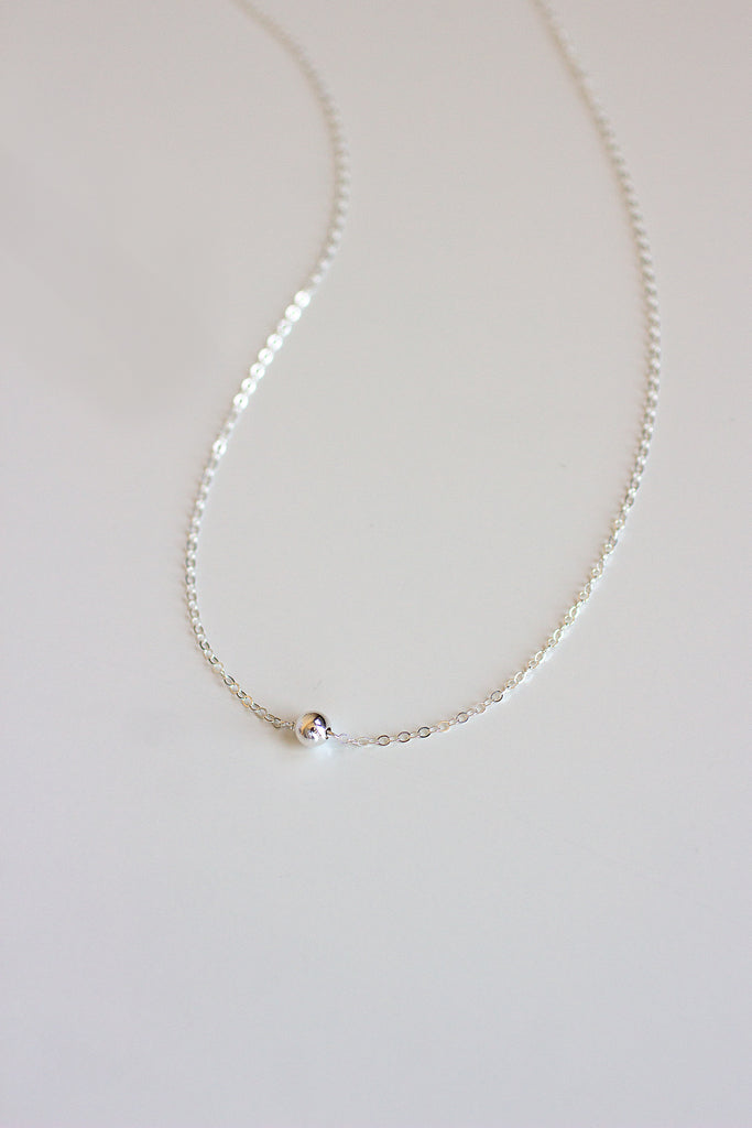 Silver Dust Solitaire Necklace
