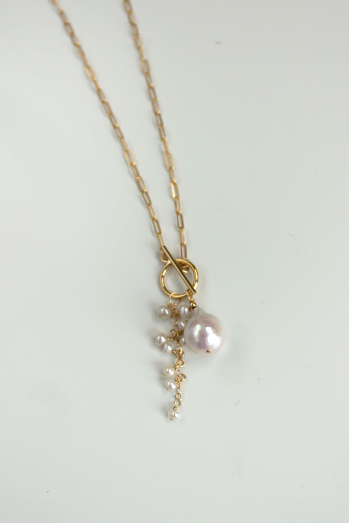 Opalescent Cluster Toggle Necklace