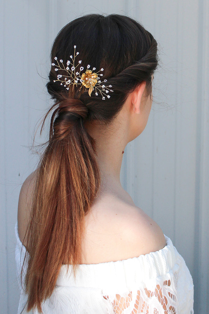 Baby's Breath Hair Pin